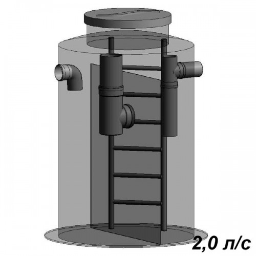 Жироуловитель вертикальный 2 л/с
