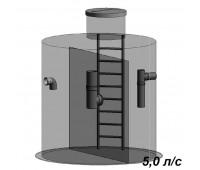 Жироуловитель вертикальный 5 л/с